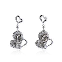 14KT White Gold 0.33 ctw Diamond Earrings