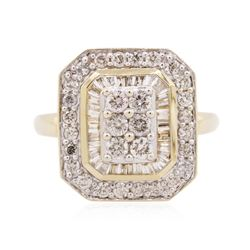 14KT Two-Tone Gold 1.00 ctw Diamond Ring