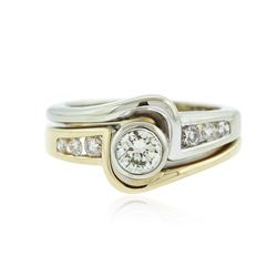 14KT Two-Tone 0.56 ctw Diamond Ring