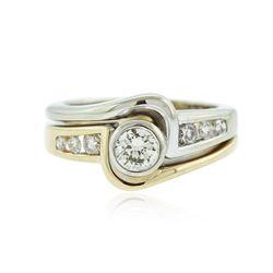 14KT Two-Tone 0.56 ctw Diamond Ring