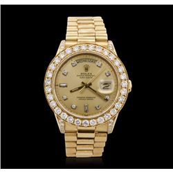 Gents Rolex DayDate 18KT Yellow Gold 3.70 ctw Diamond Wristwatch