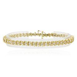 14KT Yellow Gold 4.19 ctw Diamond Tennis Bracelet
