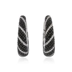 14KT White Gold 5.22 ctw Diamond Earrings
