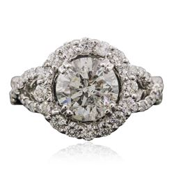 18KT White Gold 2.58 ctw Diamond Ring