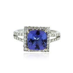 14KT White Gold 2.73 ctw Tanzanite and Diamond Ring