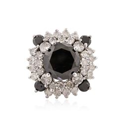 14KT White Gold 6.67 ctw Black Diamond Ring