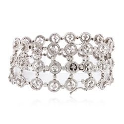 18KT White Gold 4.59 ctw Diamond Bracelet