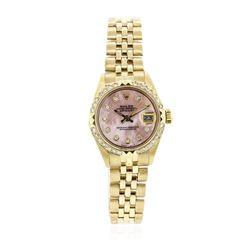 Ladies Rolex 18KT Yellow Gold Diamond DateJust Wristwatch