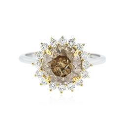 14KT White Gold EGL USA Certified 6.15 ctw Diamond Ring