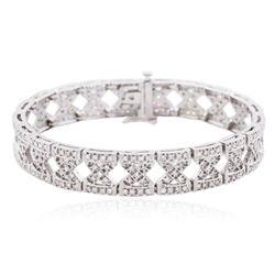 14KT White Gold 2.18 ctw Diamond Bracelet