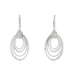 14KT White Gold 1.30 ctw Diamond Earrings