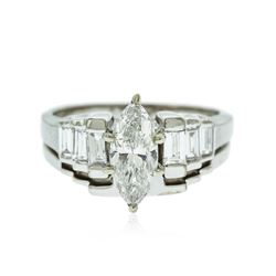 14KT White Gold EGL Certified 1.70 ctw Diamond Ring