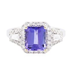 14KT White Gold 2.29 ctw Tanzanite and Diamond Ring