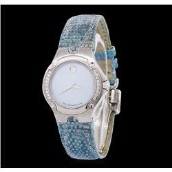 Ladies Stainless Steel Diamond Movado Wristwatch