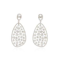 14KT White Gold 2.29 ctw Diamond Earrings