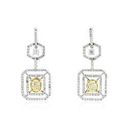 Platinum 2.45 ctw Diamond Earrings