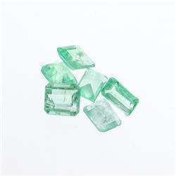 5.21 cts. Natural Emerald Cut Emerald Parcel