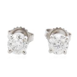14KT White Gold 1.23 ctw Diamond Stud Earrings