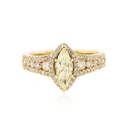 14KT Yellow Gold 1.48 ctw GIA Certified Diamond Unity Ring