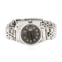 Ladies Rolex Stainless Steel Date Wristwatch