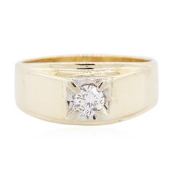 14KT Yellow Gold 0.30 ctw Solitaire Ring