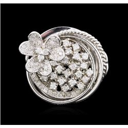 14KT White Gold 0.76 ctw Diamond Ring