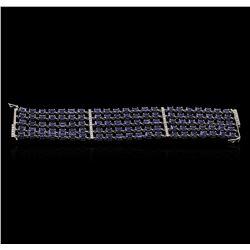 14KT White Gold 48.30 ctw Tanzanite and Diamond Bracelet