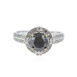 18KT White Gold 2.01 ctw Black Diamond Ring