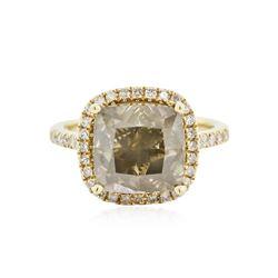 14KT Yellow Gold 7.66 ctw Fancy Brown Diamond Ring