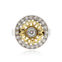 18KT Two-Tone Gold 0.66 ctw Diamond Ring