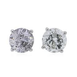 14KT White Gold 1.17 ctw Diamond Stud Earrings