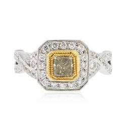 18KT White and Yellow Gold 1.50 ctw Diamond Ring