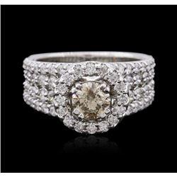 14KT White Gold 2.51 ctw Diamond Ring