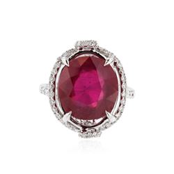 18KT White Gold 8.43 ctw Ruby and Diamond Ring