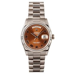 Gents Rolex 18KT White Gold Presidential Day Date Wristwatch