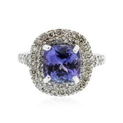 14KT White Gold 2.99 ctw Tanzanite and Diamond Ring