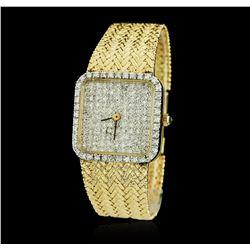 Ladies 14KT Yellow Gold 1.75 ctw Diamond Wristwatch