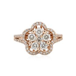 14KT Rose Gold 1.19 ctw Diamond Ring