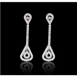 14KT White Gold 1.61 ctw Diamond Earrings