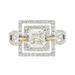 18KT Two-Tone Gold 2.09 ctw Diamond Ring