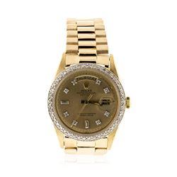 Gents Rolex 18KT Yellow Gold Diamond DayDate Wristwatch