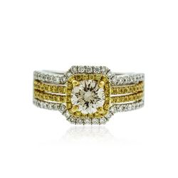 18-22KT Two-Tone Gold EGL USA Cert 1.61 ctw Diamond Ring