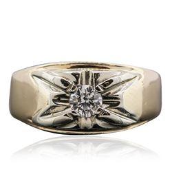 14KT Yellow Gold 0.35 ctw Diamond Ring