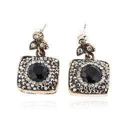 SILVER 15.26 ctw Crystal Earrings