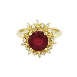 14KT Yellow Gold 3.35 ctw Ruby and Diamond Ring