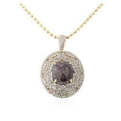 SILVER 49.83 ctw Star Ruby and White Sapphire Pendant With Chain