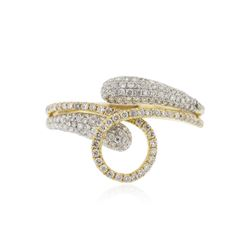 18KT Two-Tone Gold 0.65 ctw Diamond Ring