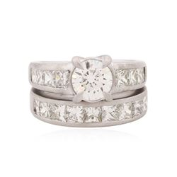 Platinum 3.93 ctw Diamond Wedding Set