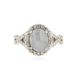 18KT White Gold 2.20 ctw Star Sapphire and Diamond Ring