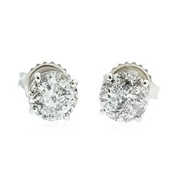 14KT White Gold 1.96 ctw Diamond Earrings